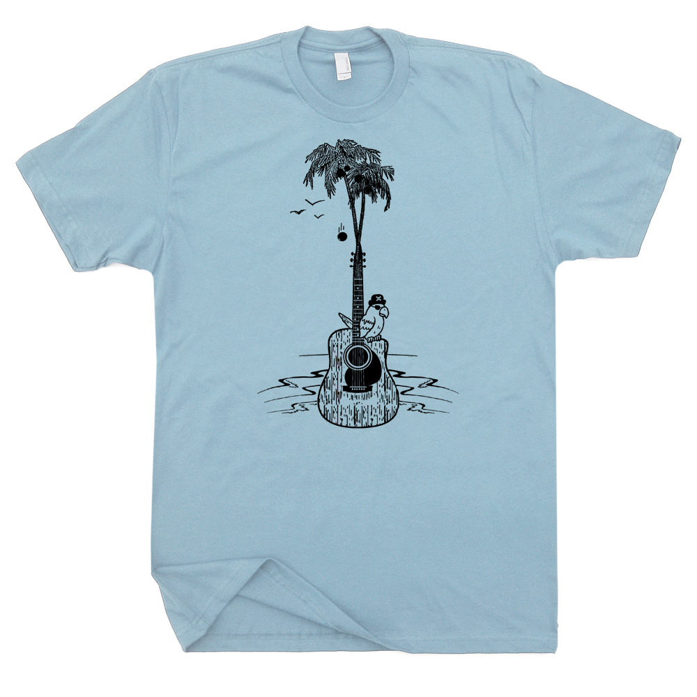 guitar tree t shirt cool vintage band shirts parrot. Black Bedroom Furniture Sets. Home Design Ideas