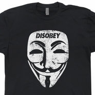 Guy Fawkes Mask T Shirt V For Vendetta T shirt Computer Hacker T Shirt