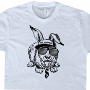 Hip Hop Rabbit T Shirt 80s Vinyl Record Player Tee Vintage Hip Hop Shirt