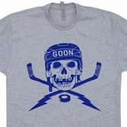 Hockey Goon T Shirts Skull Goalie Tees Bruins Penguins Devils Flyers