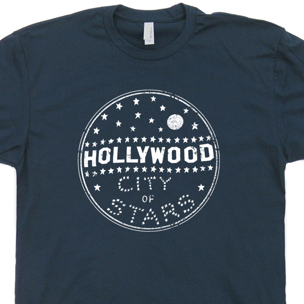 Hollywood T Shirt California Shirts Vintage Sign Tee Cool 80s Movie Los Angeles
