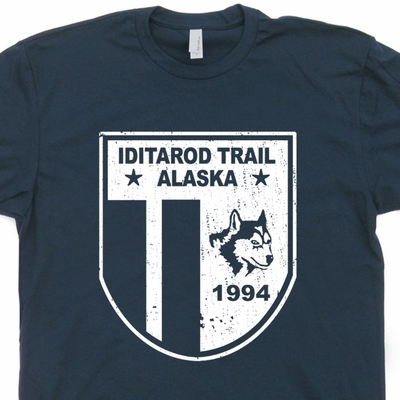 Iditarod T Shirt Sled Dog Race T Shirt Alaska Shirts Husky Dog Shirts