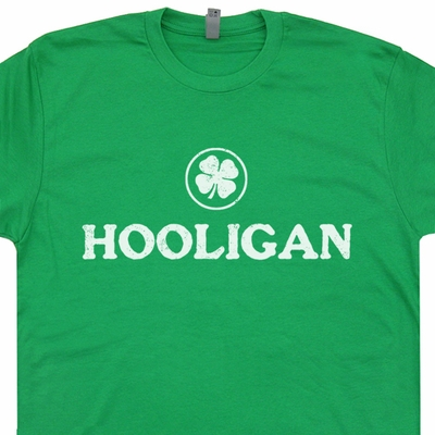 Irish Hooligan T Shirts Ireland Soccer Rugby Vintage Shirts