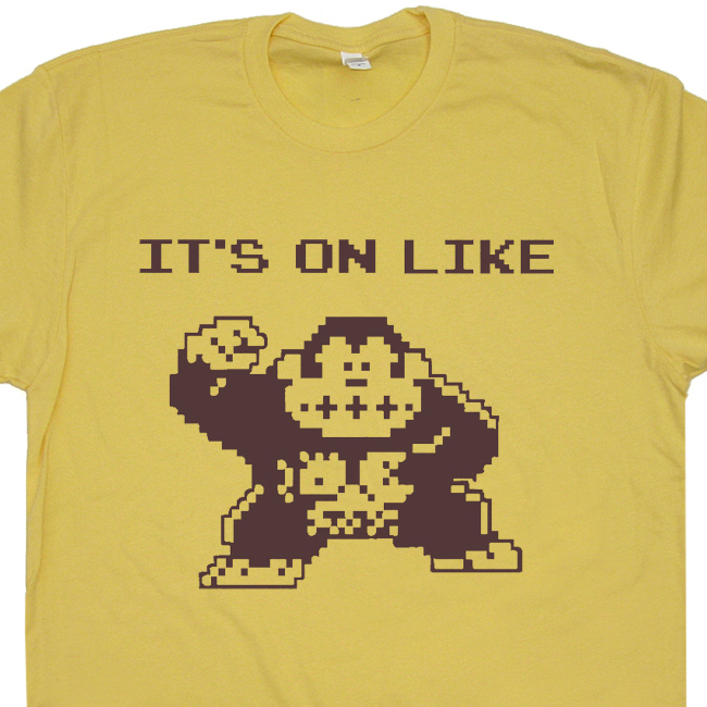 809b44824 It's On Like Donkey Kong T Shirt | Cool Gaming Shirts | Donkey Kong ...