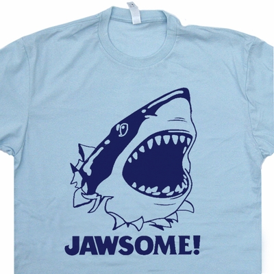 Jawsome T Shirt Jaws T Shirt Funny T Shirts Vintage Movie T Shirts