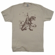 Jesus Riding On a Dinosaur T Shirt UFO T Shirt Cryptozoology Tee Shirt