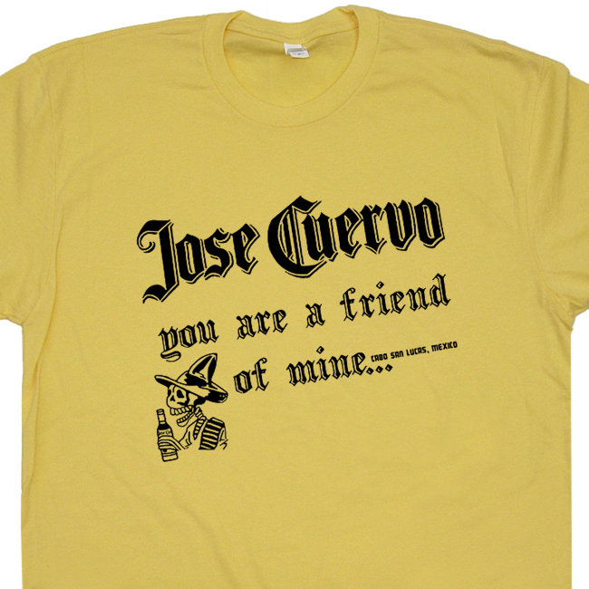 49f9c1ea Jose Cuervo T Shirt Funny Tequila T Shirt Vintage Beer Shirt Mexican Tee