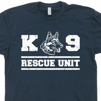 K9 Dog T Shirt K9 Rescue Unit Shirt German Shepherd Shirts Fireman Tee