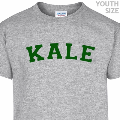 Kale University Letters Shirt Vegetarian T Shirt Funny Youth Kids Shirts