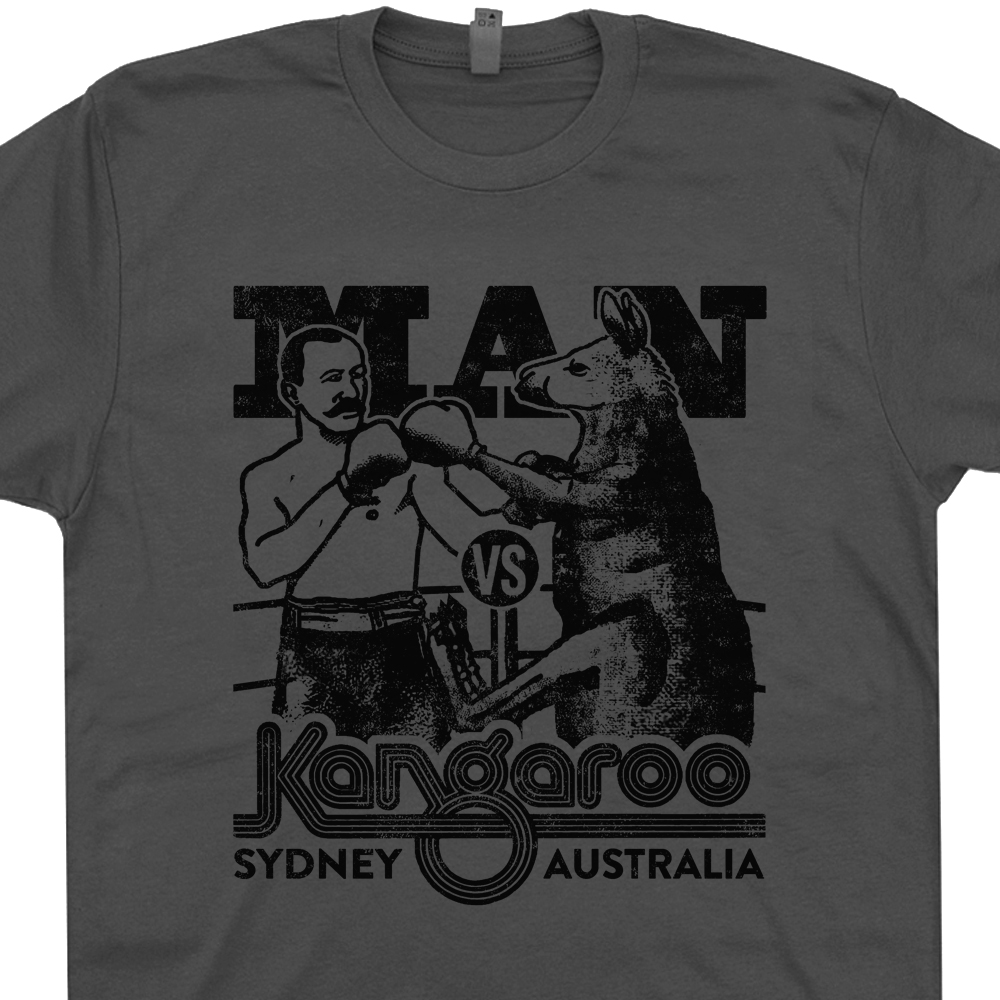 Kangaroo boxing t shirt vintage t shirts funny t shirts for Cheap t shirt printing next day delivery