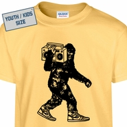 Kids Youth Bigfoot Stereo T Shirt Funny Sasquatch T Shirt