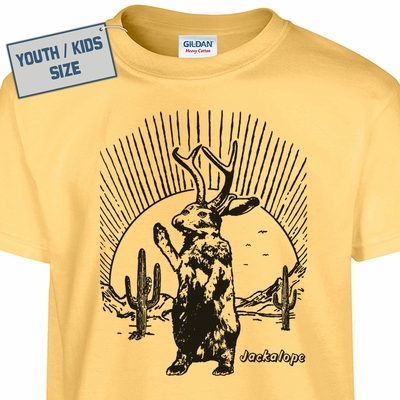 Kids Youth Jackalope T Shirt Funny Kids T Shirts