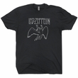 Led Zeppelin T Shirt Vintage Rock T Shirts Cool Band Tees Swan Song Shirt