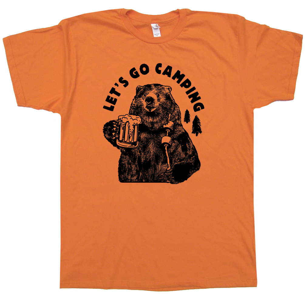 7238c66a Lets Go Camping T Shirts Cool Hiking T Shirt Funny Camping Shirt Saying