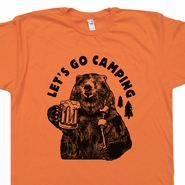 Lets Go Camping T Shirts Cool Hiking T Shirt Funny Camping Shirt Saying