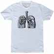 Lungs T Shirt Medical Lung Diagram Tee Vintage Science Illustration