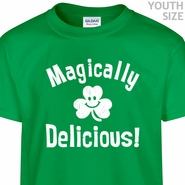 Magically Delicious T Shirt Kids St Patricks Day Shirt Cool Youth Shirt