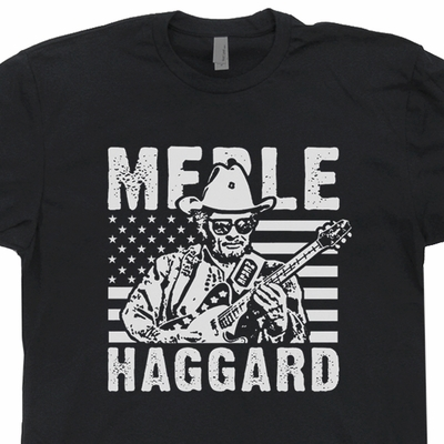Merle Haggard T Shirt Vintage Country Music Shirt Vintage Band T Shirt