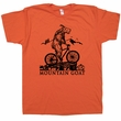Mountain Bike T Shirt Mountain Goat T Shirt Cool Bicycle Graphic Shirt