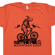 Mountain Bike T Shirt Mountain Goat T Shirt Biking Tee