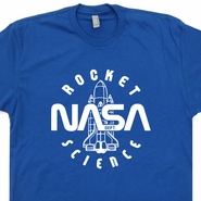 Vintage Nasa Rocket Science T Shirt Geek Shirt Nerd Shirt Science Tee
