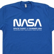 Vintage NASA T Shirt Space Cadet Astronaut T Shirt Science Geek Shirt