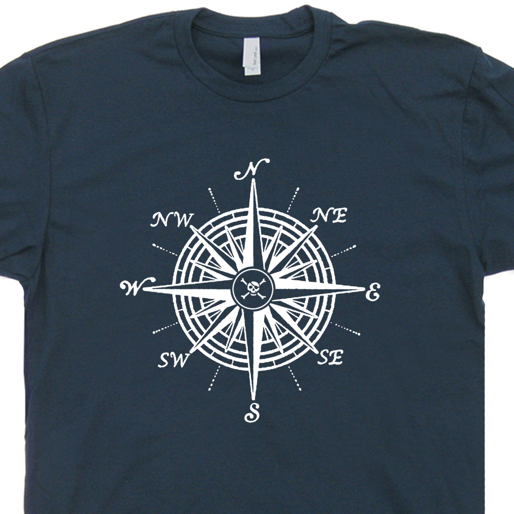Nautical Compass T Shirt Sailboat T Shirts Vintage Us Navy