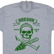 Oregon Lumberjack T Shirt Carpenter Shirt Logging Graphic Shirts