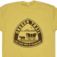 Oregon Trail T Shirt Funny T Shirt Gaming T Shirts Geek T Shirts 80s Tees