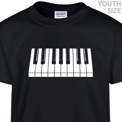 Piano Keys T Shirt Cool Kids Shirts Funny Youth Shirts