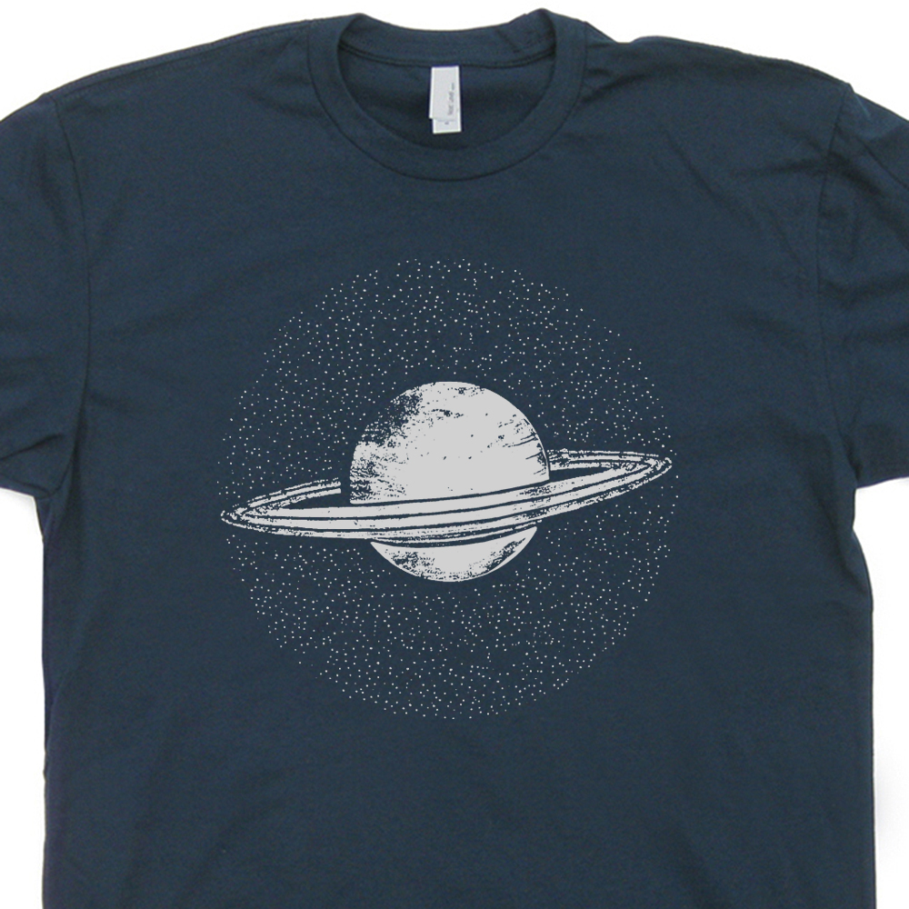 planet saturn t shirt vintage nasa t shirt astronaut t. Black Bedroom Furniture Sets. Home Design Ideas