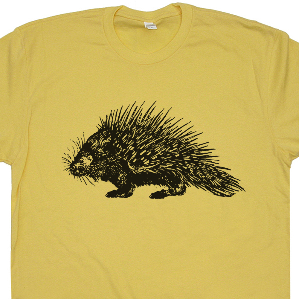 Porcupine t shirt funny animal t shirts vintage animal for Animal tee shirts online