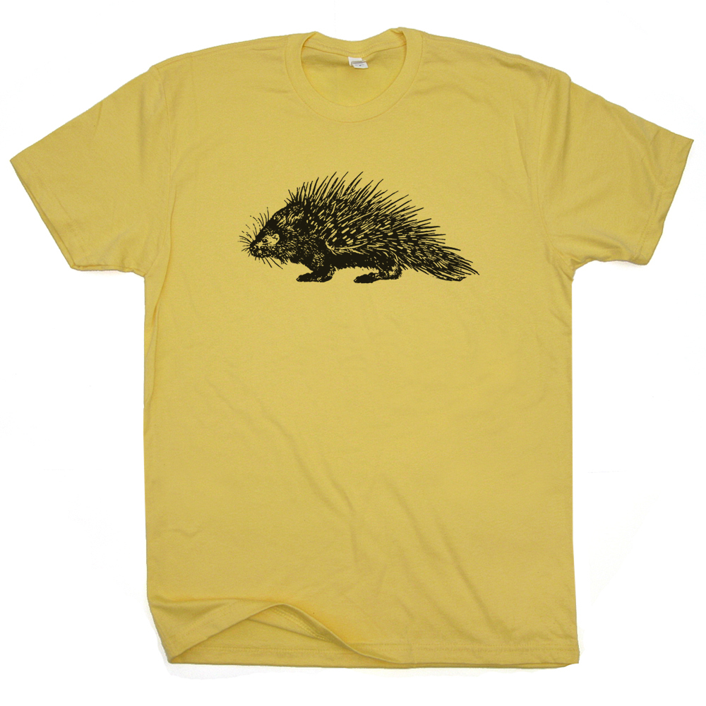 Porcupine T Shirt Funny Animal T Shirts Vintage