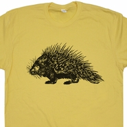 Porcupine T Shirt Funny Animal Shirts Cool Animal Shirt Porcupine Graphic