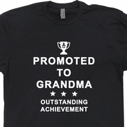 Promoted to Grandma T Shirt Grandmother T Shirt Funny Award Ribbons Tee