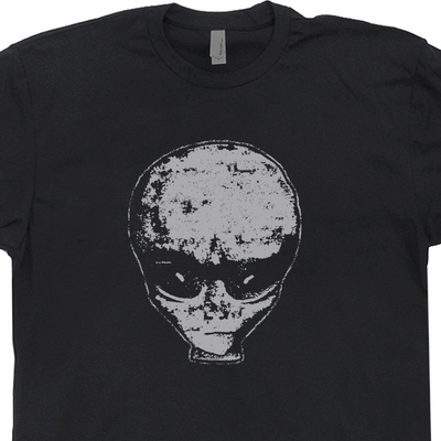 Realistic Alien Head T Shirt UFO T Shirts Roswell New Mexico Tee Shirts