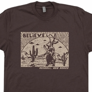 Roswell Jackalope T Shirt New Mexico Shirt UFO Shirts Area 51 Graphic Tee