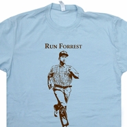 Run Forrest Gump T Shirt Funny Running T Shirts Ironman Triathlon Shirt