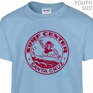 Santa Cruz Surfing T Shirt Vintage Skateboard T Shirts Funny Kids Youth Shirts