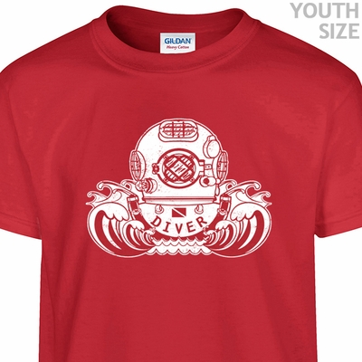 Scuba Diving Helmet T Shirt Cool Youth Scuba Shirt Funny Kids Shirts
