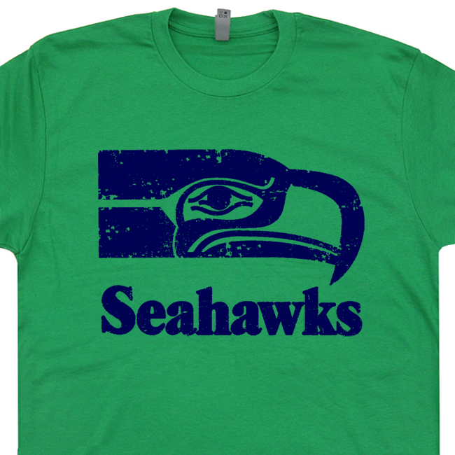 Seattle Seahawks T Shirt Vintage Seattle Seahawks T Shirt Throwback Jersey c4b9a568f