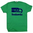 Seattle Seahawks T Shirt Vintage Seattle Seahawks T Shirt Throwback Jersey
