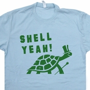 Shell Yeah T Shirt Funny T Shirt Turtle Shirt Cool Animal Shirts Vintage Tee