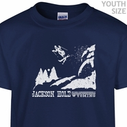 Ski Jackson Hole Wyoming T Shirt Youth Ski T Shirt Funny Kids Shirt
