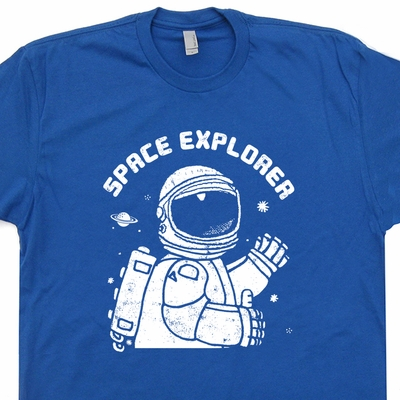 Space Explorer T shirt Vintage Nasa Shirt Science Shirt Geek T Shirts