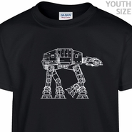 Star Wars ATAT T Shirt Youth Shirts Funny Kids Shirts
