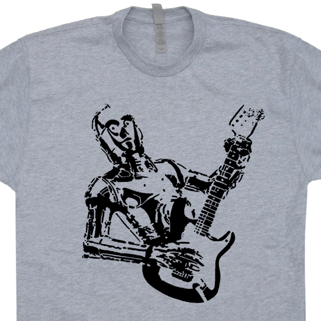 C3po guitar t shirt fender guitar shirt gibson guitar for Vintage star wars t shirts men