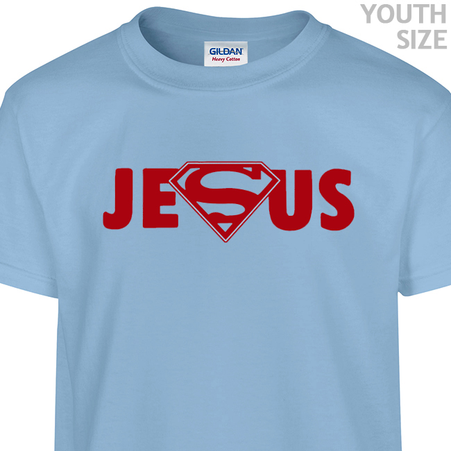 Superman Jesus T Shirt | Funny Kids Shirts | Cool Youth Shirts