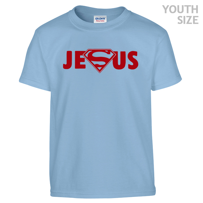 superman jesus t shirt funny kids shirts cool youth shirts. Black Bedroom Furniture Sets. Home Design Ideas