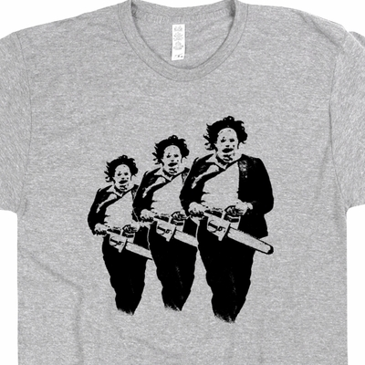 Texas Chainsaw Massacre Shirt Vintage Horror Movie Poster T Shirts Leatherface Graphic Tee